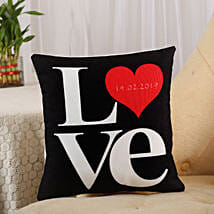 Love Cushion Black: Send Anniversary Gifts to Bareilly