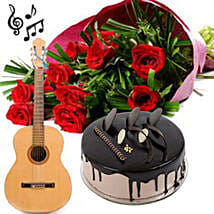 Love Express it with a Song: Flowers & Guitarist Service