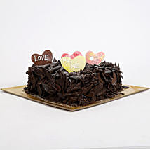 Love in abundunce Valentine cake: Heart Shaped Cakes to Hyderabad
