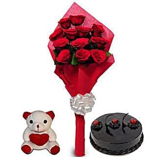 Love Treat for you: Valentine Flowers & Teddy Bears