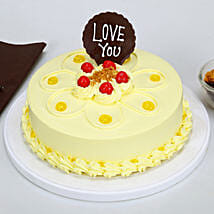 Love You Valentine Butterscotch Cake: Cakes to Moradabad