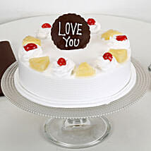 Love You Valentine Pineapple Cake: Anniversary Cakes