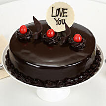 Love You Valentine Truffle Cake: Cake Delivery in Mahendragarh