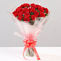 Lovely Bunch Of 24 Red Carnations: Flower Delivery in Almora