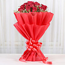 Lovely Red Roses Bouquet: Send Roses for Him