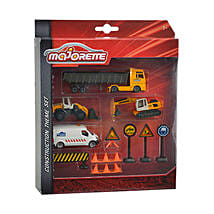 Majorette Construction Theme Set with Cool Dude Smiley: Kids Toys & Games