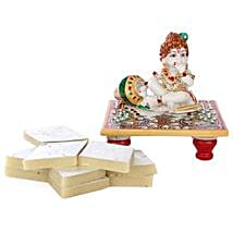 Marble Bal Krishna Combo: Send Handicraft Gifts for Her