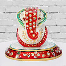 Marble Ganesha On A Chowki: Send Gifts to Pali