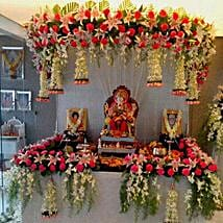 Marvelous Floral Ganpati Decoration: Send Home Decor for Diwali
