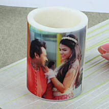 Me and You Personalized Candle: Send Gold Rakhi