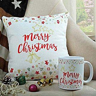 Merry Xmas Cushion N Mug Combo: