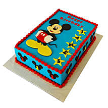 Mickey Mouse Designer Fondant Cake: 1st Birthday Gifts