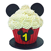 Mickey Mouse Floral Cupcake: Gifts for 1St Birthday