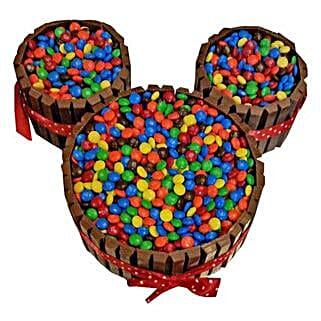 Mickey Mouse Kit Kat Cake: