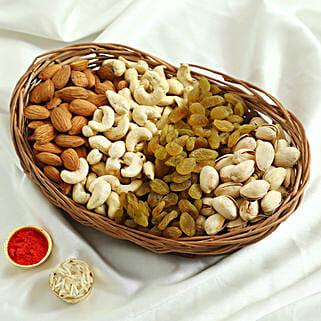 Mixed Basket Of Dry Fruits: Send Bhai Dooj Gifts to Allahabad