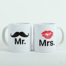 Mooch N Lips Couple Mugs: Send Gifts to Mansa
