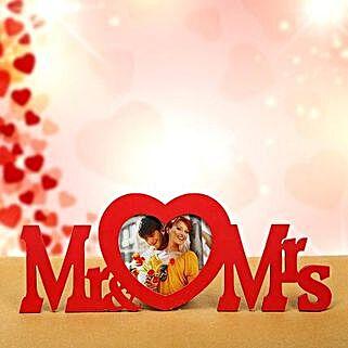Mr n Mrs Frame: Valentine Personalised Photo Frames