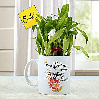 Mug with Bamboo Plant: Send Plants to Ludhiana