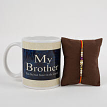 Mug With Beautiful Rakhi: Rakhi to Khandwa