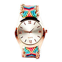 Multicolour Bracelet Watch For Women: Gifts for Sister