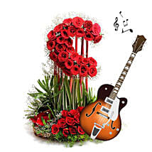 Music and Moon Arrangement for Beloved: Send Wedding Gifts to Aurangabad