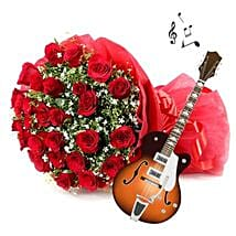 Musical Charm of Affection: Send Flowers & Guitarist Service