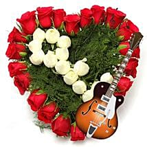 Musical Note of Heart: Send Flowers for Parents
