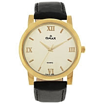 Omax Analog Watch For Smart Men White: Buy Watches