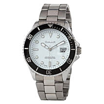 Omax Cool Dial Mens Watch White: Watches