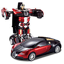 One Button Transforming Car Red: Kids Remote Control Toys