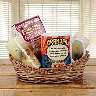 Orange Basket For Grandpa: Gift Baskets to Delhi