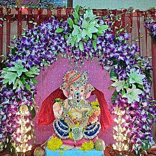 Orchids and Asiatic Lilies Arc Decoration: Devotional Decoration Services