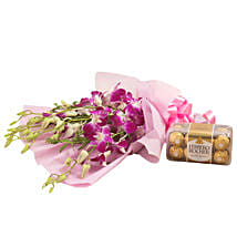 Orchids N Chocolates: Womens Day Flowers & Chocolates