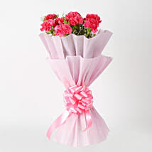 Passionate Pink Carnations Bouquet: Romantic Flowers