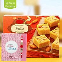 Patisa Hamper: Rakhi With Sweets Rajkot