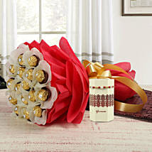 Pearl Rakhi & Ferrero Rocher Bouquet: Rakhi Same Day Delivery in India