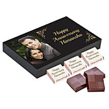 Personalised Anniversary Chocolate Box- Black: Personalised Chocolates for Anniversary