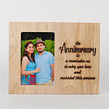 Personalised Anniversary Engraved Frame: Send Personalized Gifts