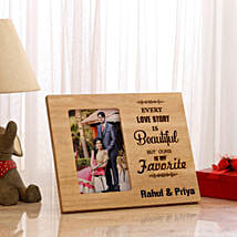 Personalised Beautiful Love Story Photo Frame: Send Personalised Gifts for Wife