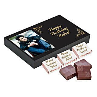 Personalised Birthday Chocolate Box- Black: Personalised Chocolates