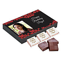 Personalised Birthday Decorated Chocolate Box: Personalised Chocolates to Hyderabad