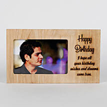 Personalised Birthday Engraved Frame: Birthday Gifts