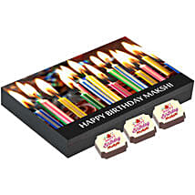 Personalised Birthday Gift Box- 12 Chocolates: Personalised Chocolates for Her
