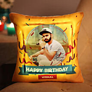 Personalised Birthday LED Cushion: Cushions