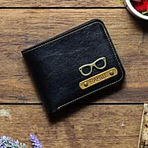Personalised Black Mens Wallet: Personalised Gifts for Him