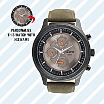 Personalised Black Watch For Him: Buy Watches