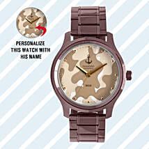 Personalised Camouflage Watch For Him: