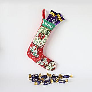 Personalised Christmas Stocking & Chocolates: Personalised Gifts
