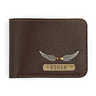 Personalised Dark Brown Mens Wallet: Send Personalised Gifts for Friend