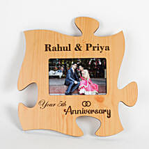 Personalised Engraved Anniversary Puzzle Frame: Send Personalised Photo Frames for Anniversary